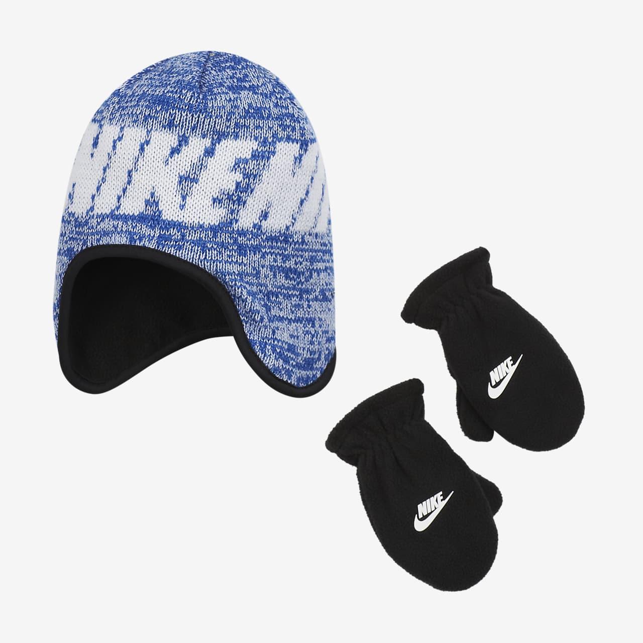 Ensemble deux pièces bonnet et moufles Nike pour Petit enfant