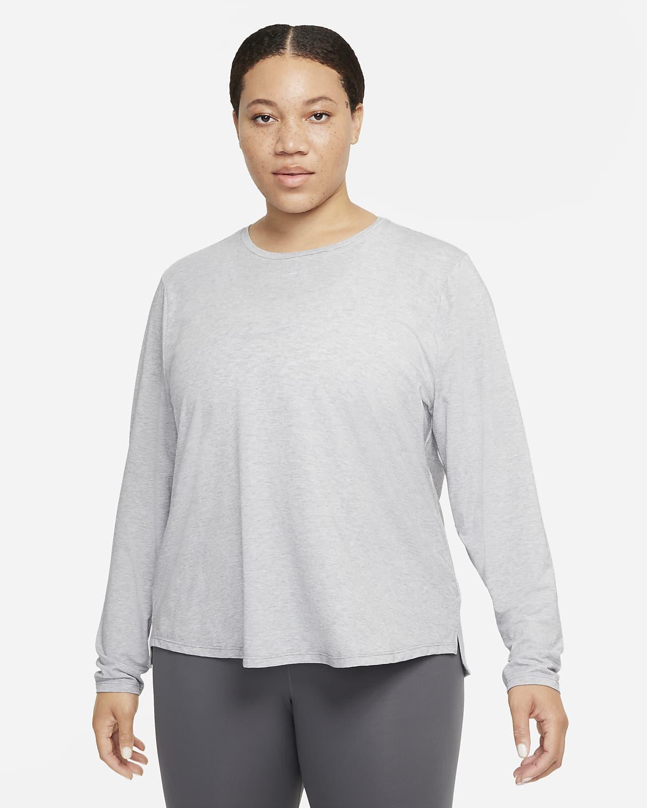 Prenda para la parte superior de manga larga de ajuste estándar para mujer Nike Dri-FIT One Luxe (talla grande)