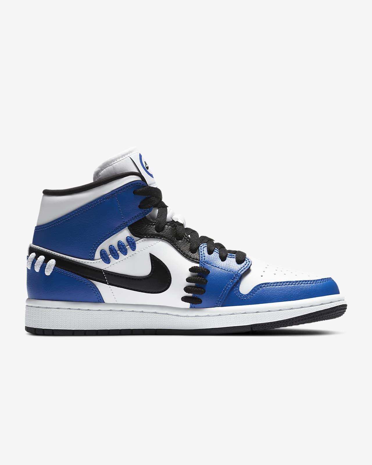 nike air jordan 1 mid azules