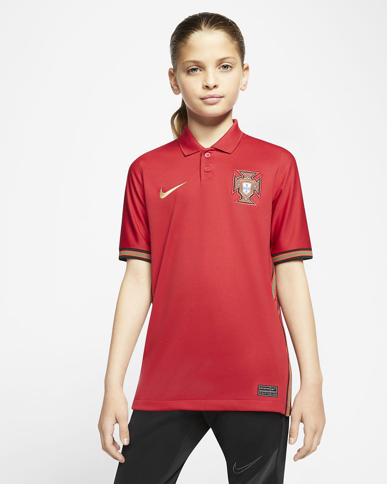 Portugal 2020 fodbold-hjemmebanetrøje til store børn