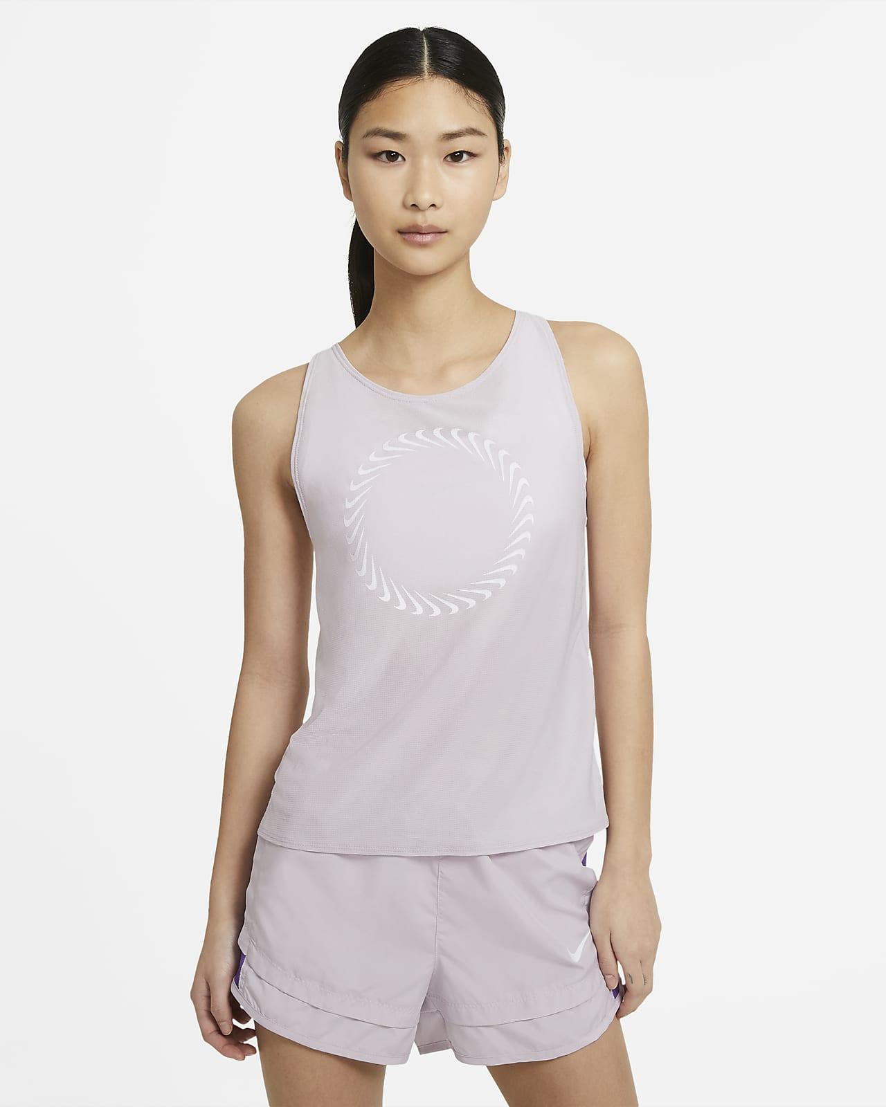 เสื้อกล้ามวิ่งผู้หญิง Nike Icon Clash Miler