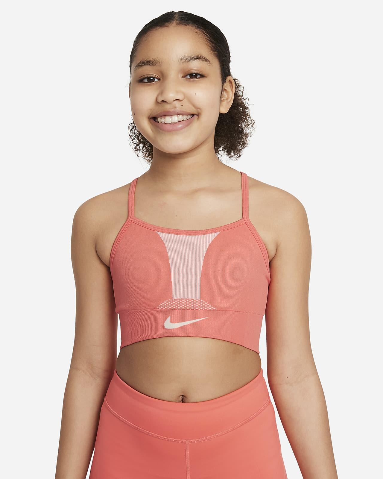 Αθλητικός στηθόδεσμος Nike Dri-FIT Indy για μεγάλα κορίτσια