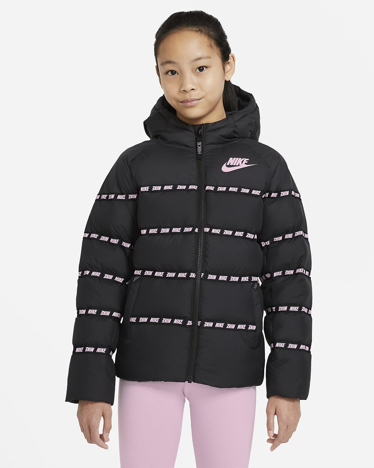 Chamarra con relleno de plumas para niños talla grande Nike Sportswear