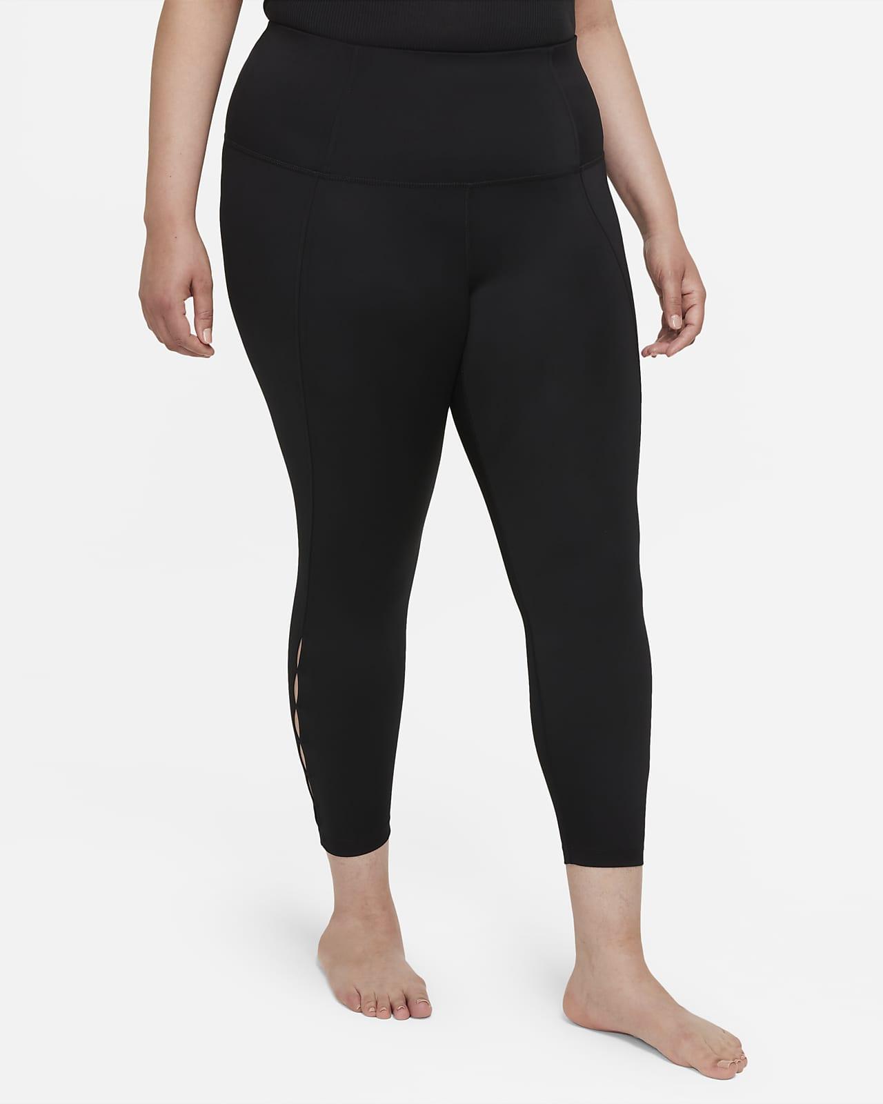 Leggings recortados de cintura alta de 7/8 para mujer Nike Yoga Dri-FIT (talla grande)