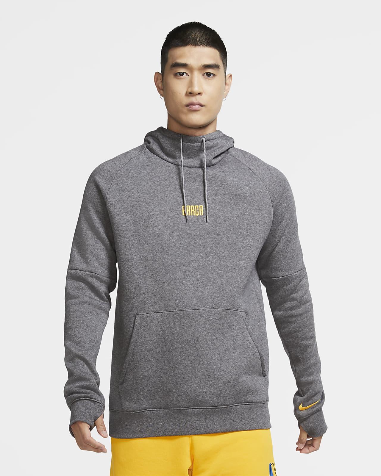 FC Barcelona Men's Fleece Pullover Soccer Hoodie