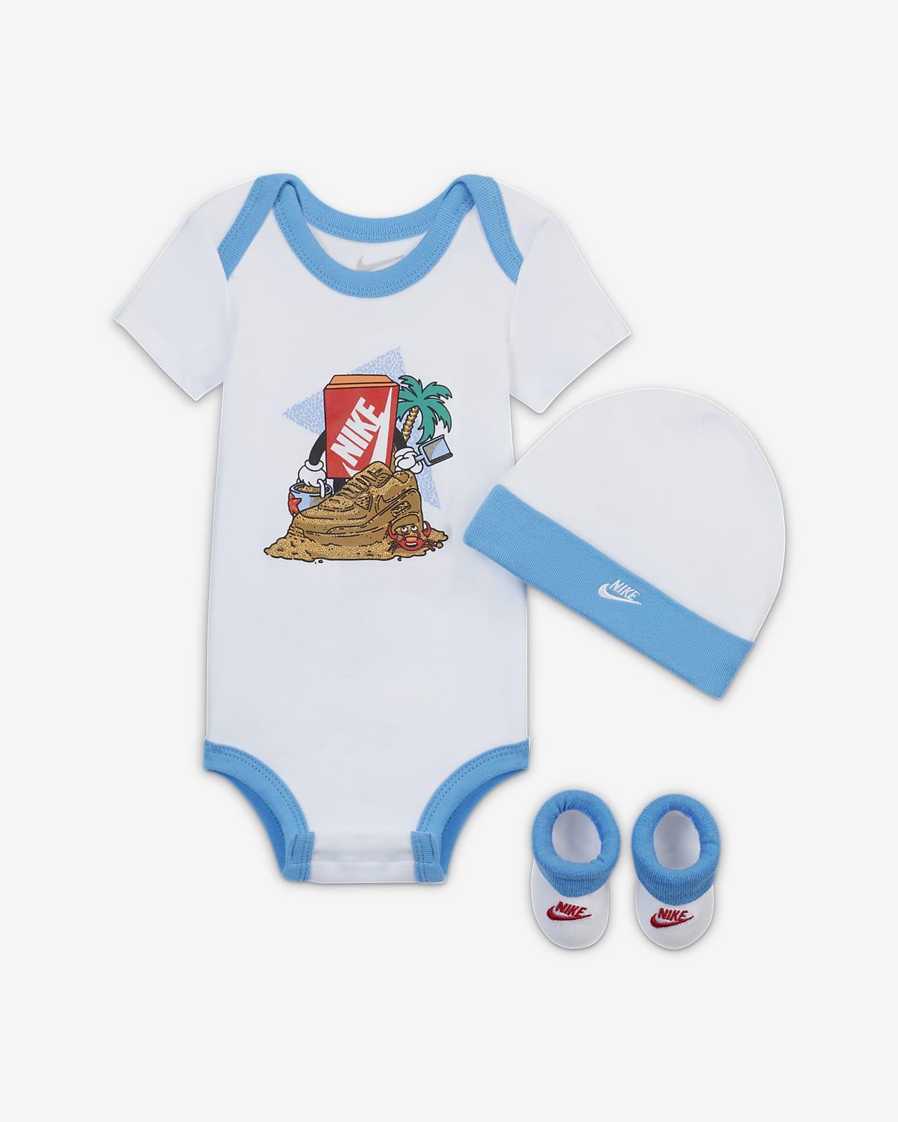 Conjunto de tres piezas para bebé de 6 a 12 meses Nike
