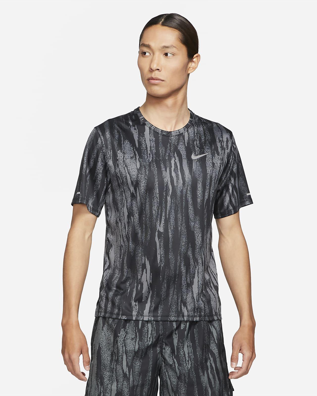 เสื้อวิ่งแขนสั้นผู้ชาย Nike Dri-FIT Miler Wild Run