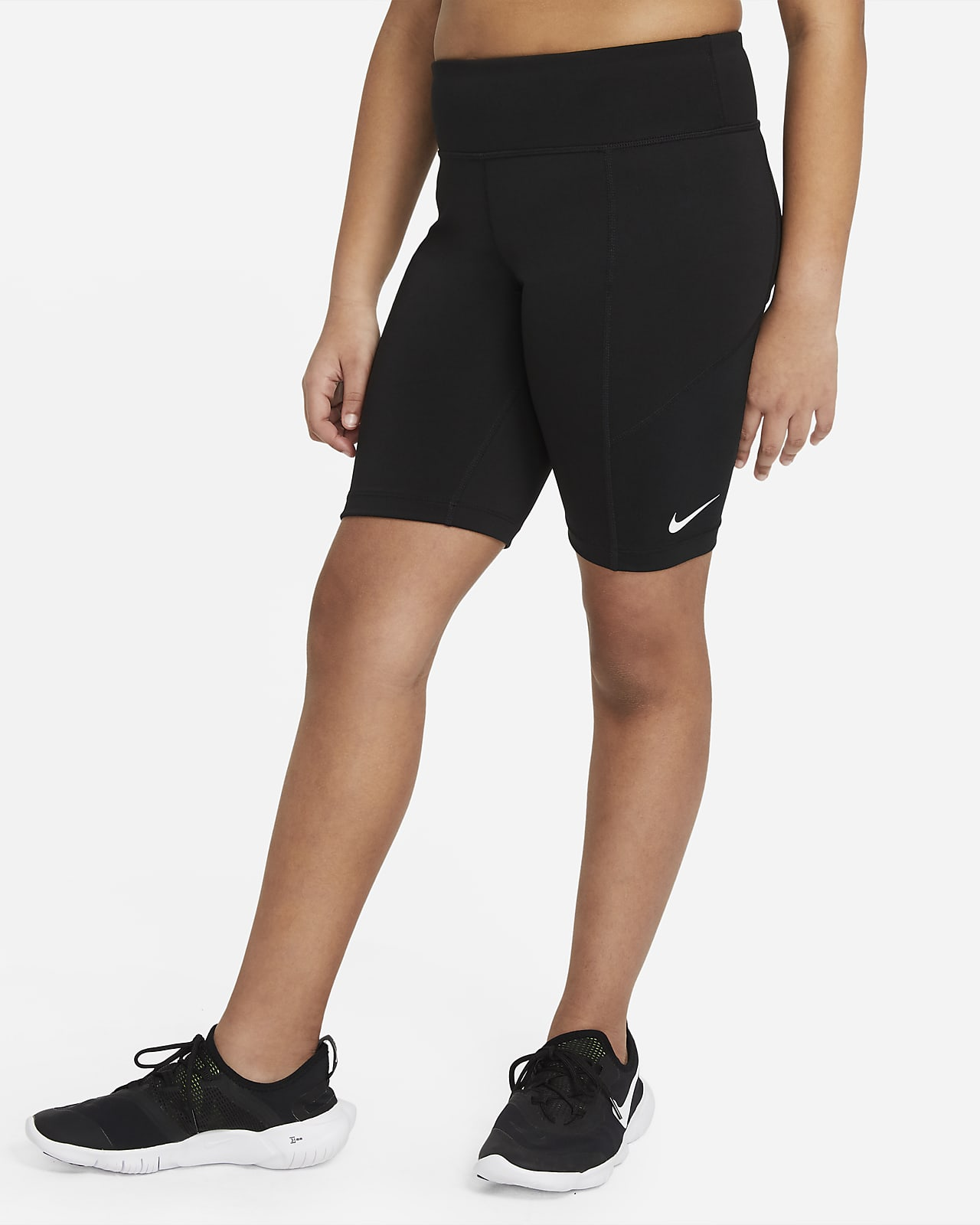 Nike Trophy Older Kids' (Girls') Training Bike Shorts (Extended Size)