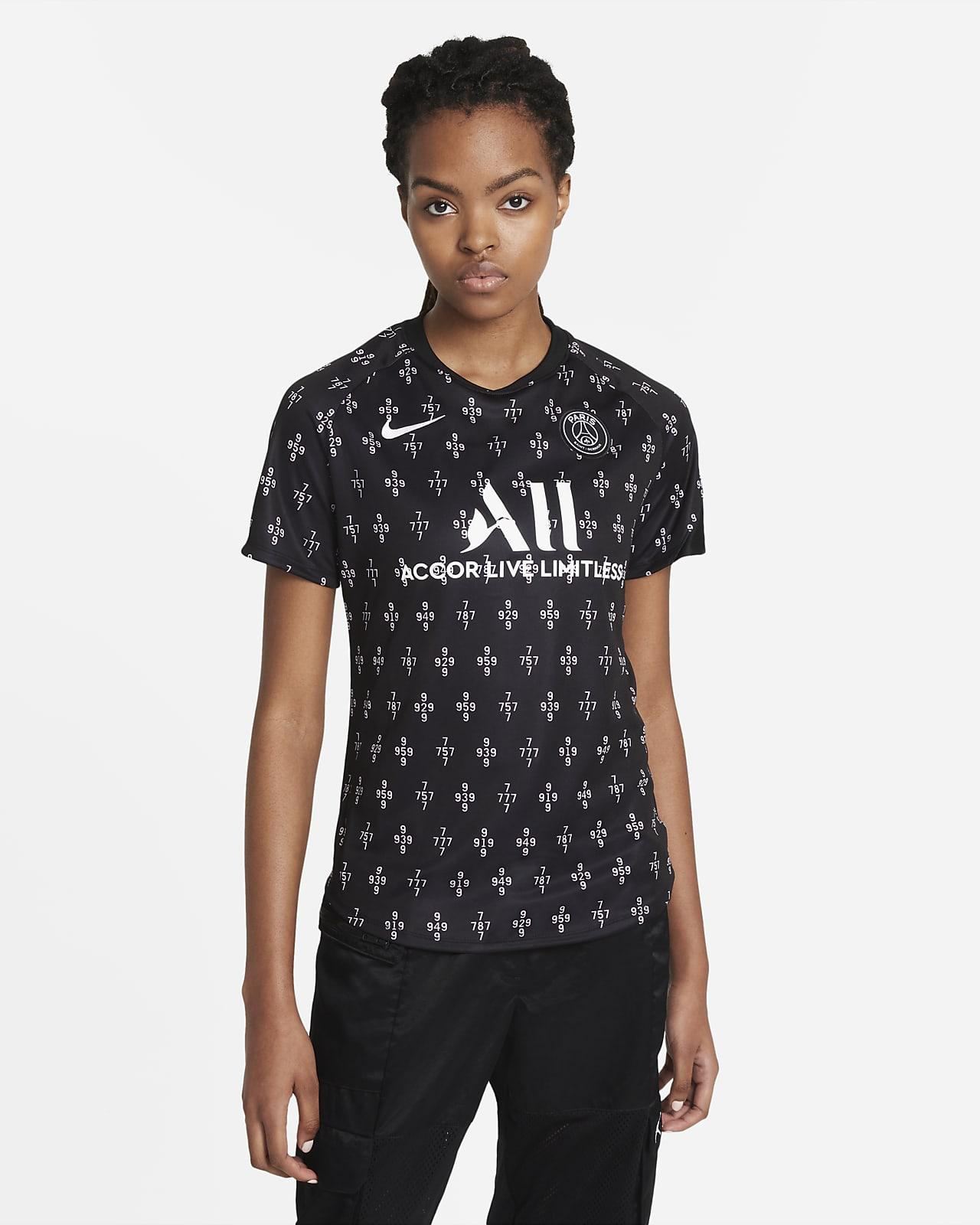 Paris Saint-Germain Away Women's Nike Dri-FIT Short-Sleeve Football Top