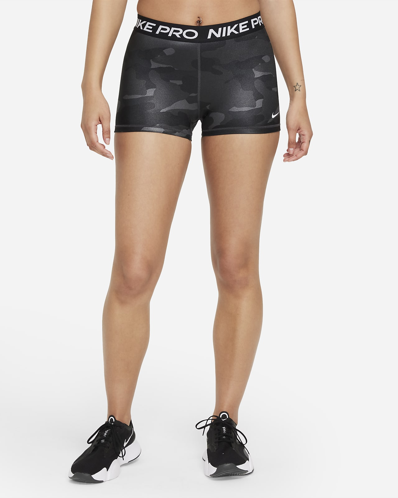 Shorts de camuflaje de 8 cm para mujer Nike Pro Dri-FIT