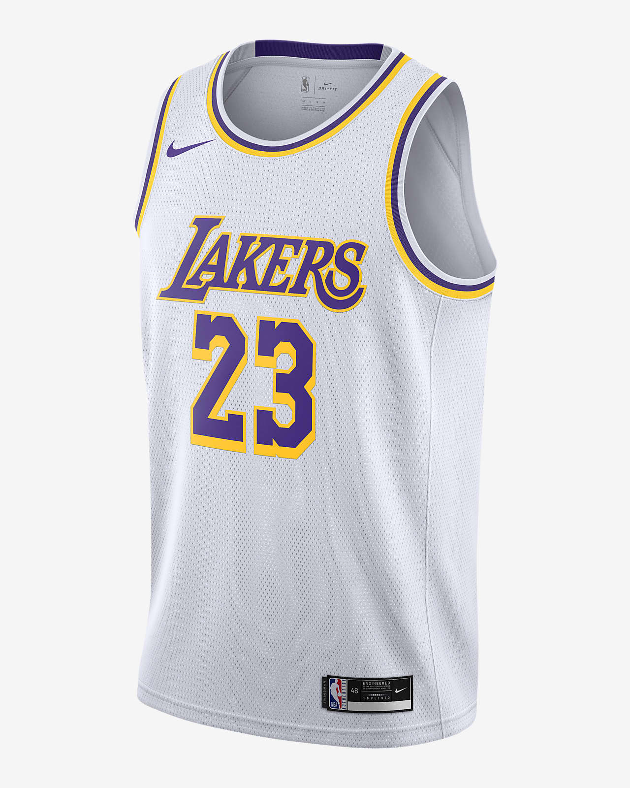 LeBron James Lakers Association Edition 2020 Nike NBA Swingman ...