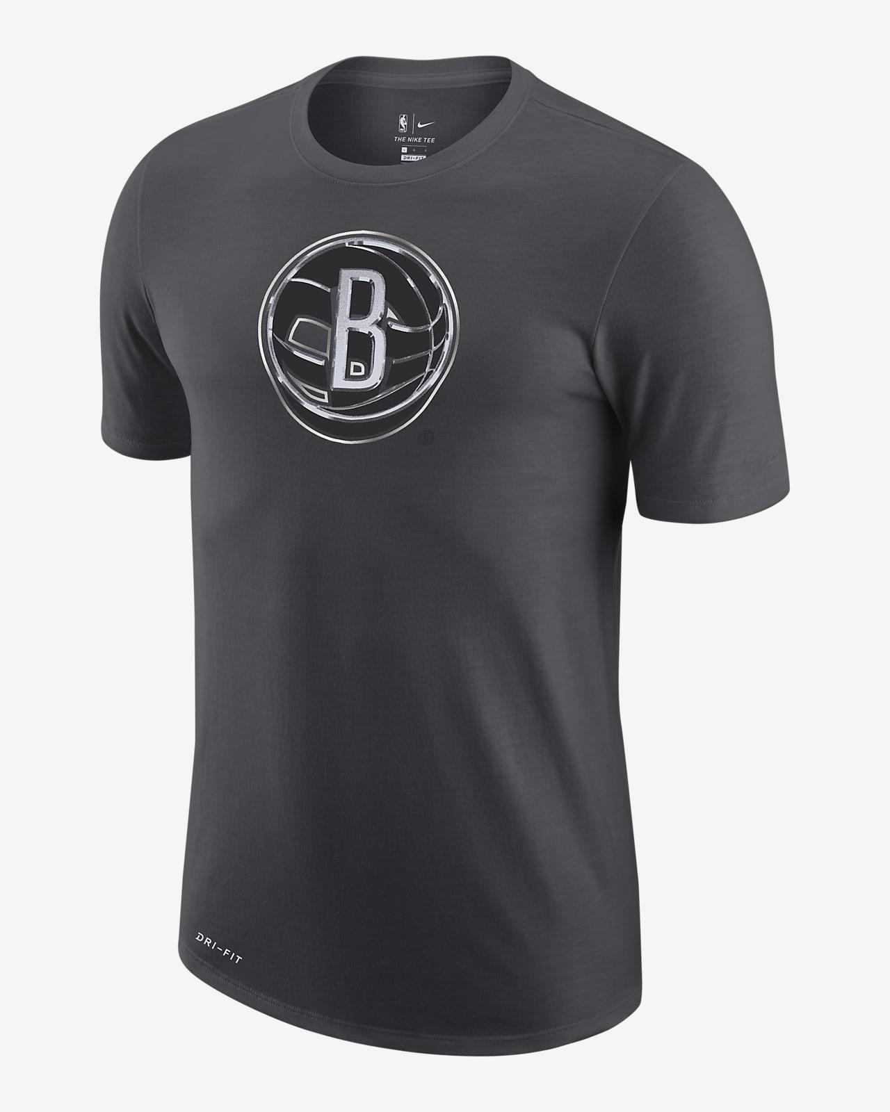 Brooklyn Nets Earned Edition Men's Nike Dri-FIT NBA Logo T-Shirt