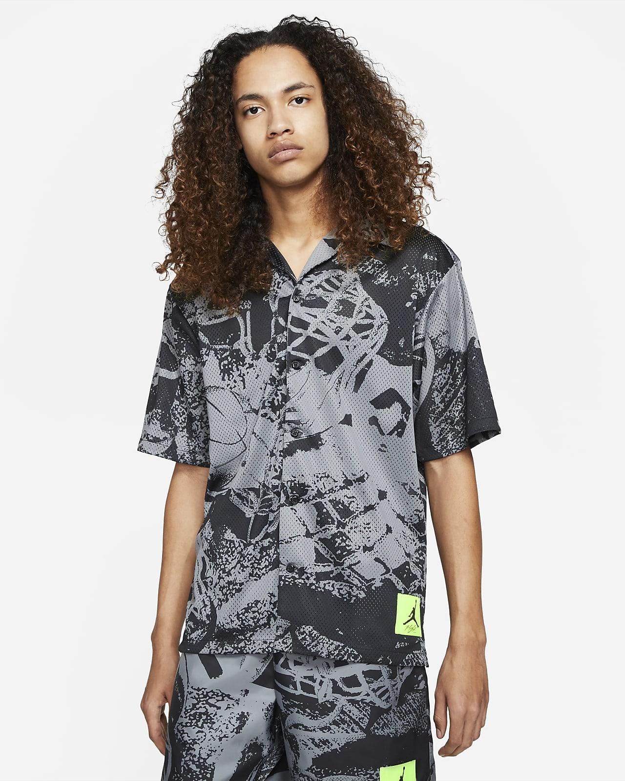 Jordan Flight Men's Printed Short-Sleeve Button Down