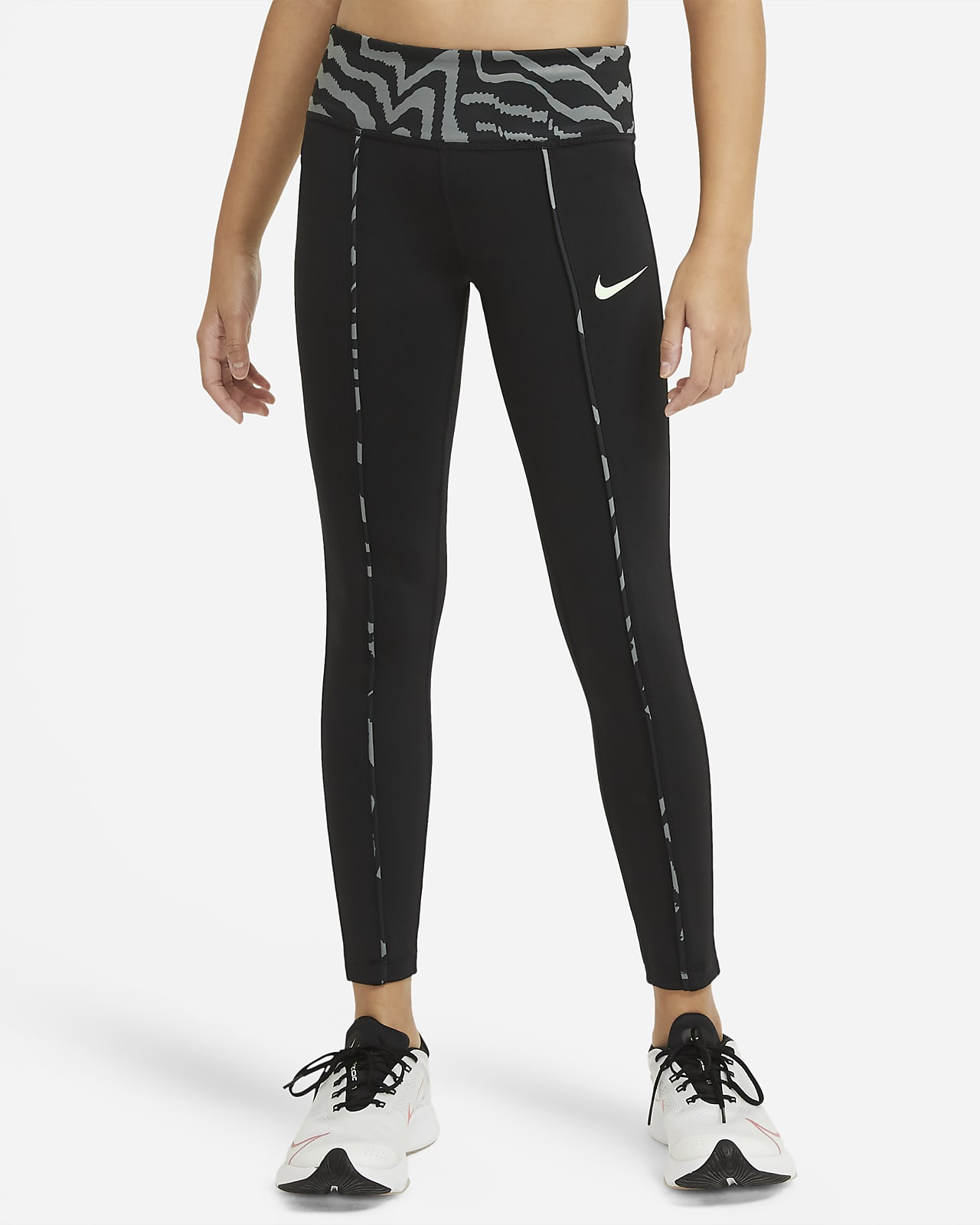 Nike One Older Kids' (Girls') Mid-Rise Printed Leggings
