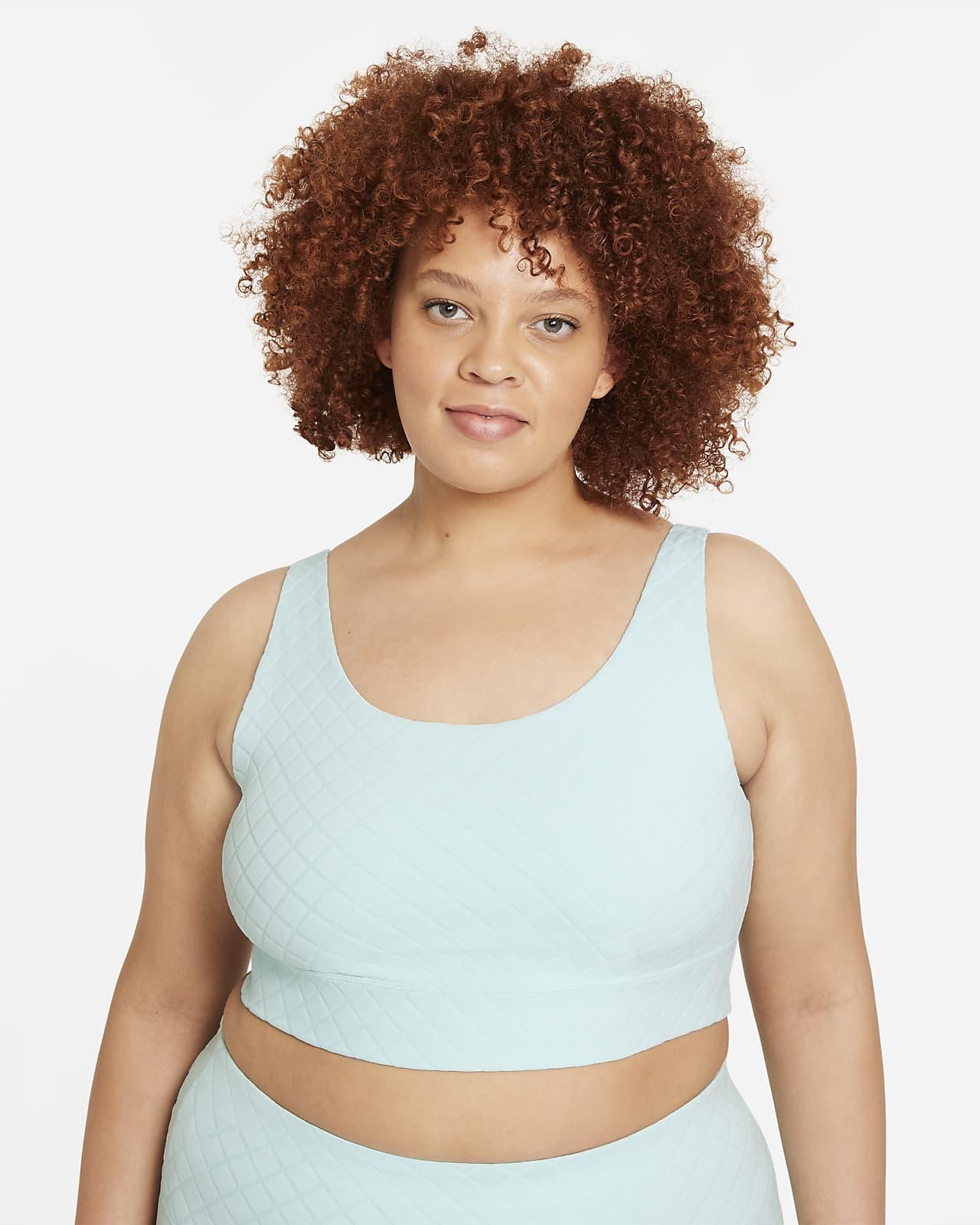 Camiseta de tirantes jacquard corta para mujer talla grande Nike Yoga Luxe