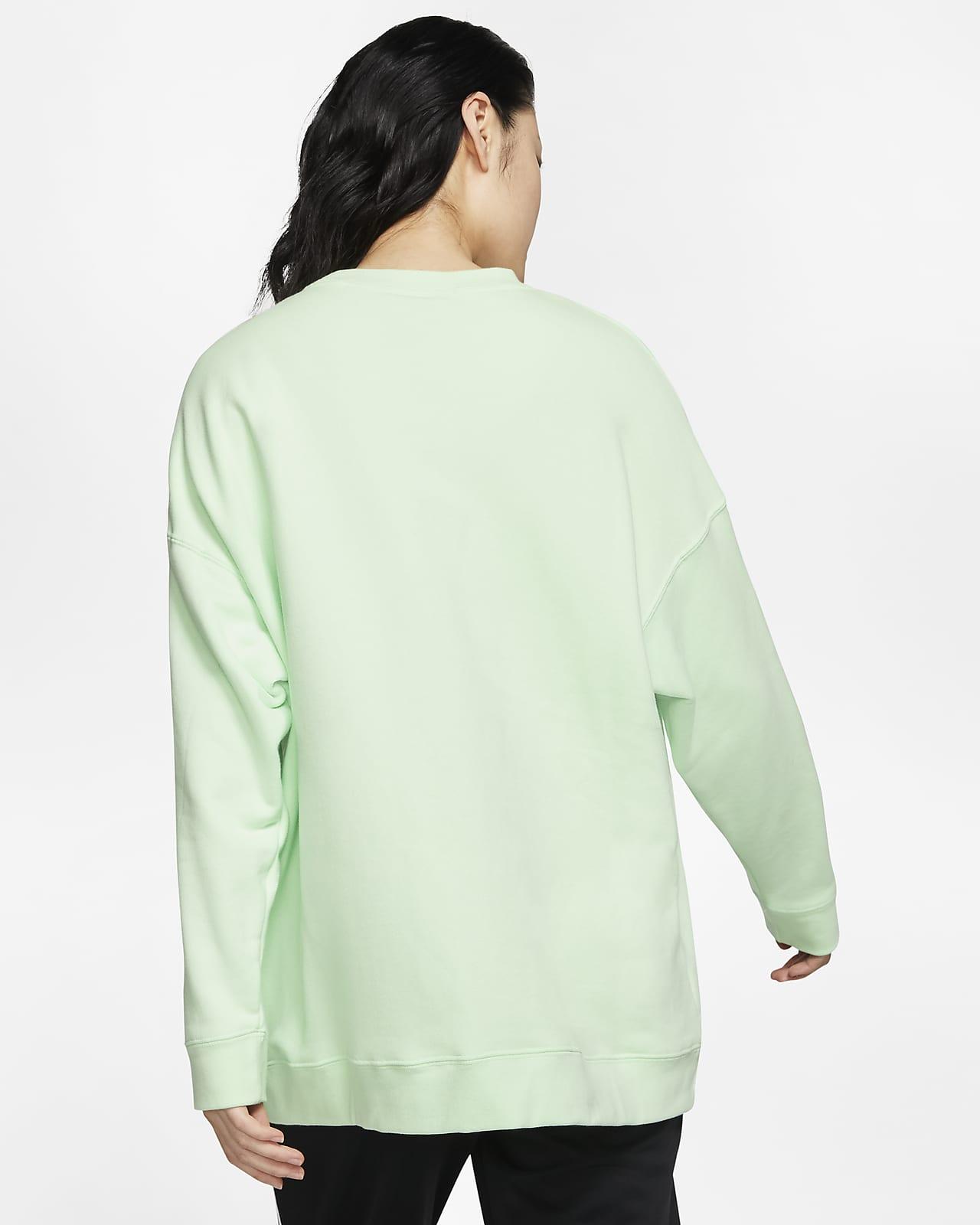 Sports Outdoors Sweatshirts Hoodies Nike Womens Sportswear Tech Fleece Crew Shirt Blue Green