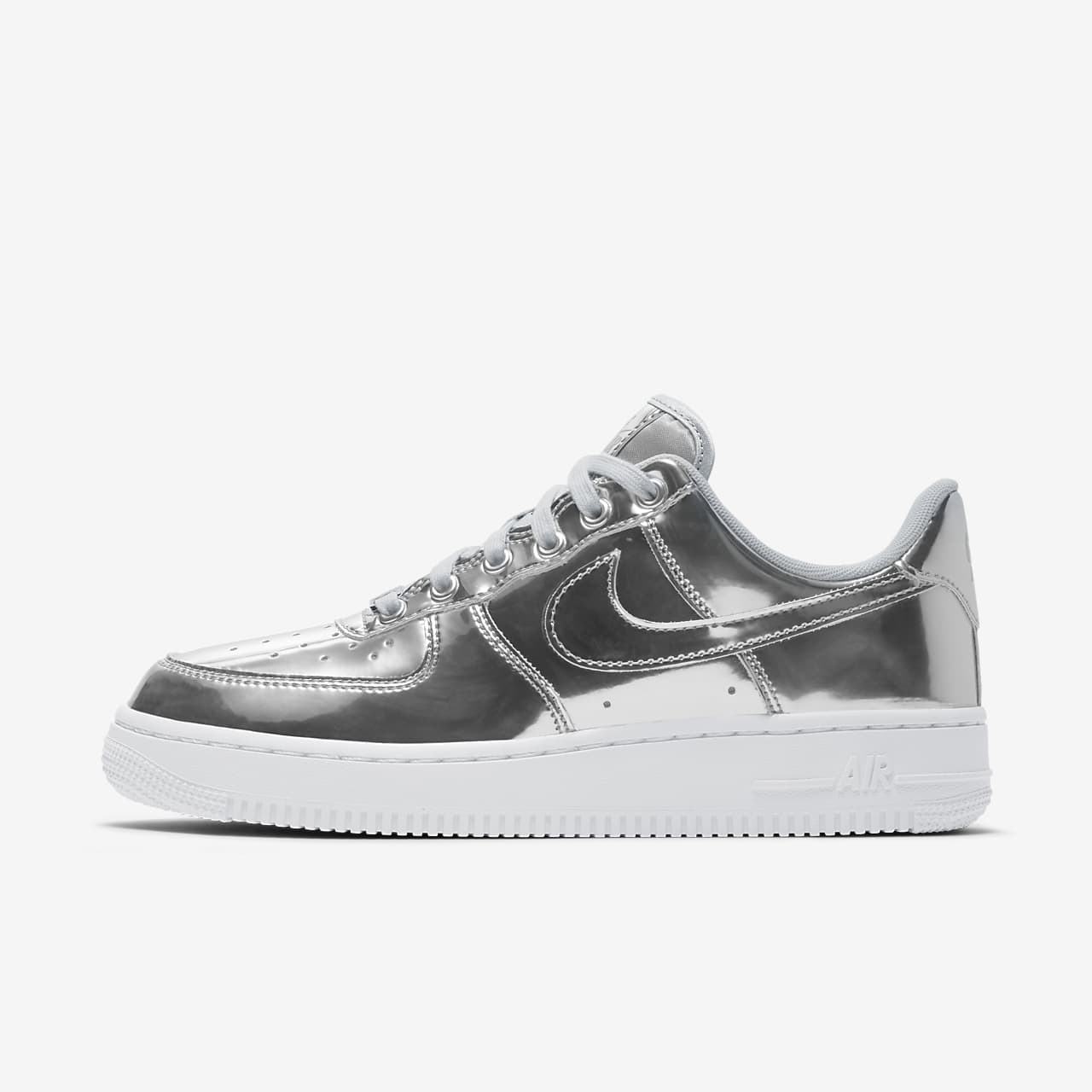 air force 1 donna bianche e argento