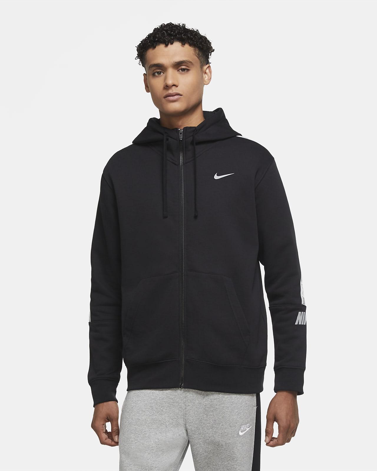 Nike Sportswear fleecehettejakke med hel glidelås til herre