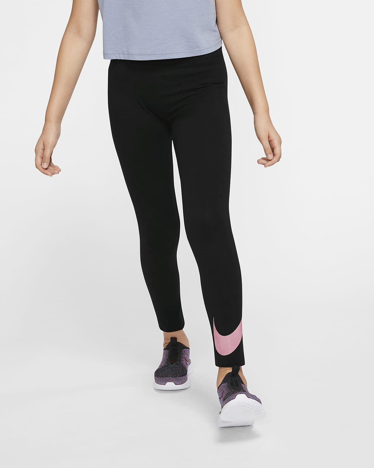 Nike Sportswear Swoosh-leggings til store børn (piger)