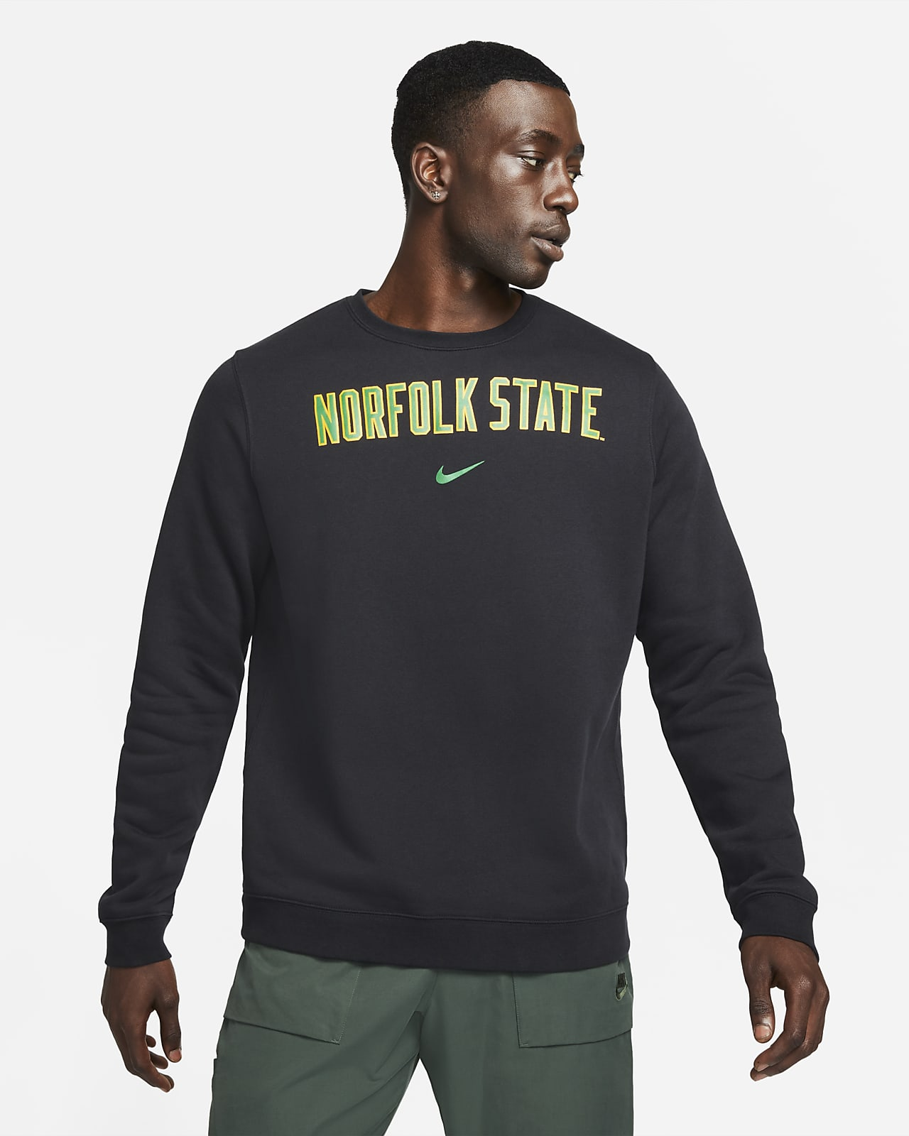 Nike College Club Fleece (Norfolk State) Crew Sweatshirt