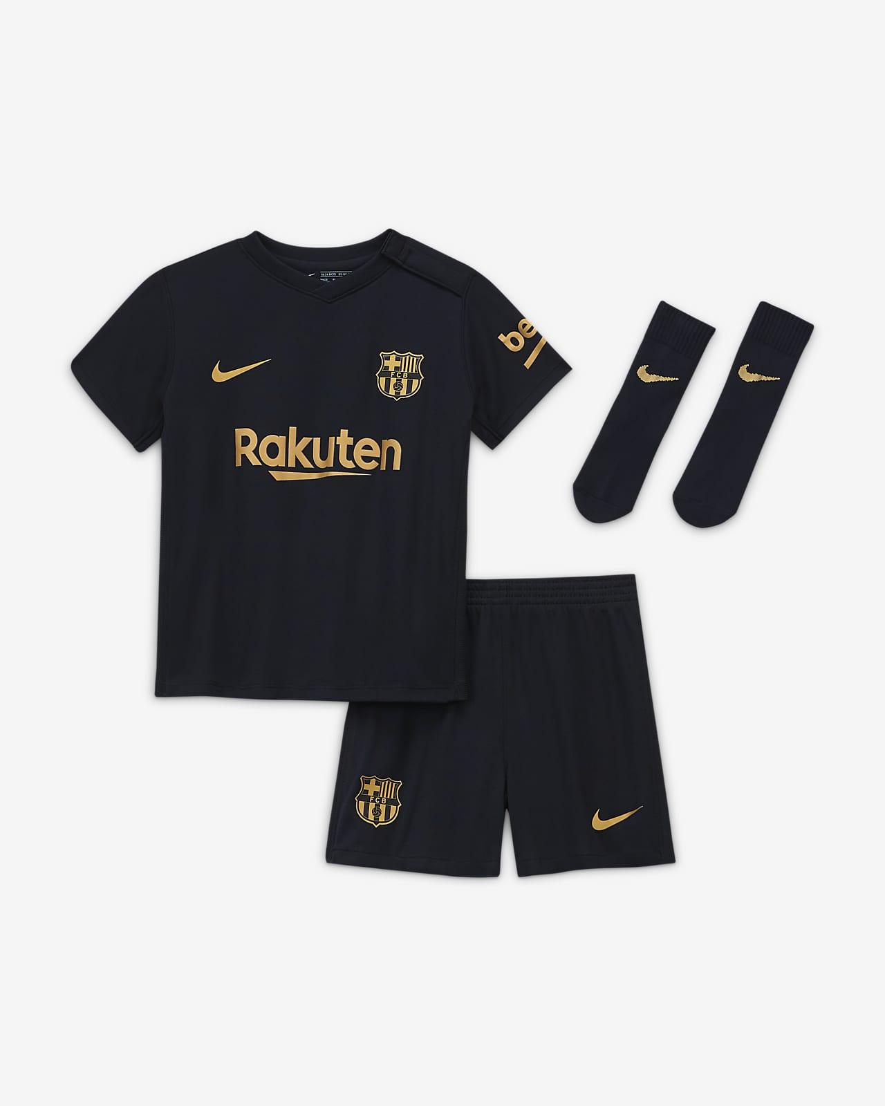 Tenue de football FC Barcelona 2020/21 Extérieur pour Bébé et Petit enfant