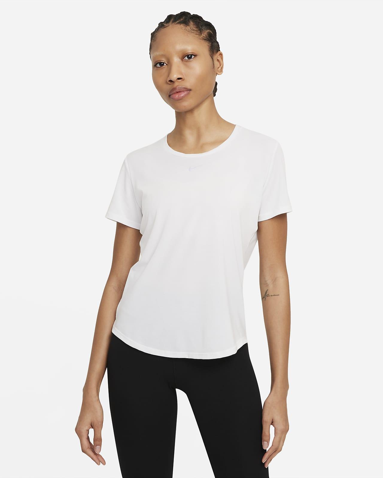 Nike Dri-FIT One Luxe kortermet overdel med standard passform til dame