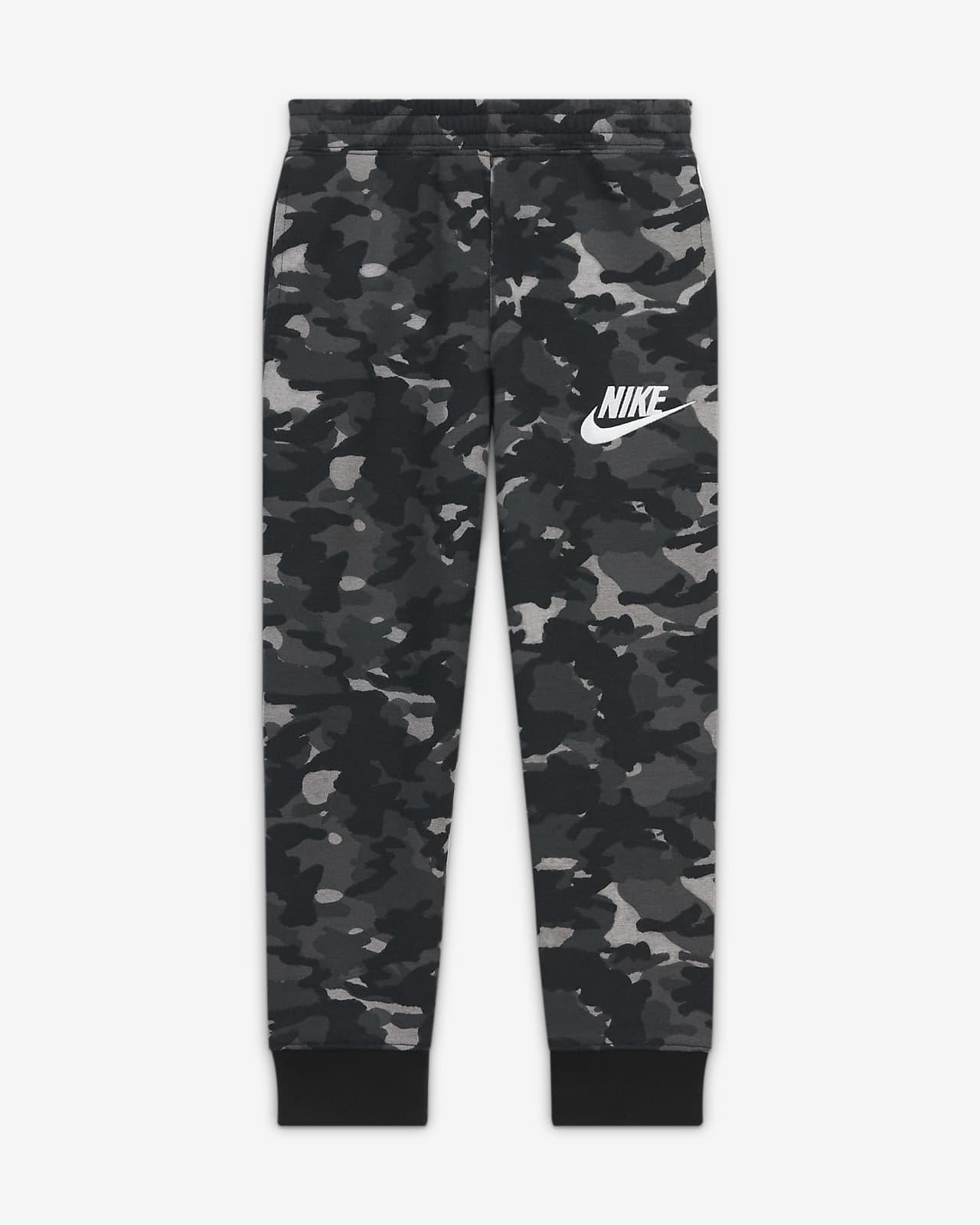 Pantalones camuflados para niños talla pequeña Nike