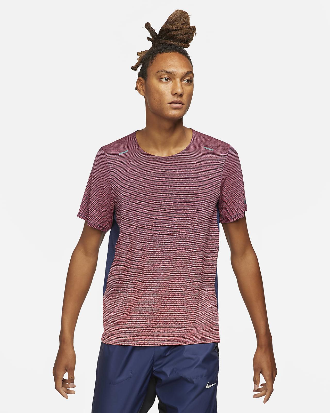 Pánské běžecké tričko Nike Pinnacle Run Division skrátkým rukávem