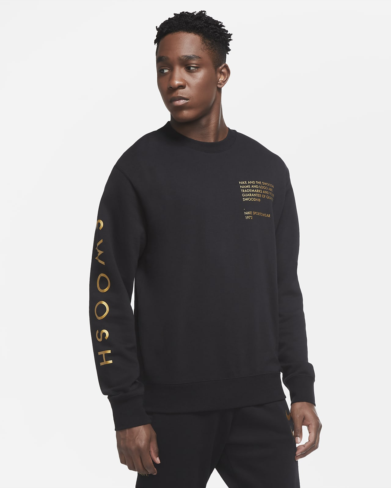 Sudadera de cuello redondo para hombre Nike Sportswear Swoosh