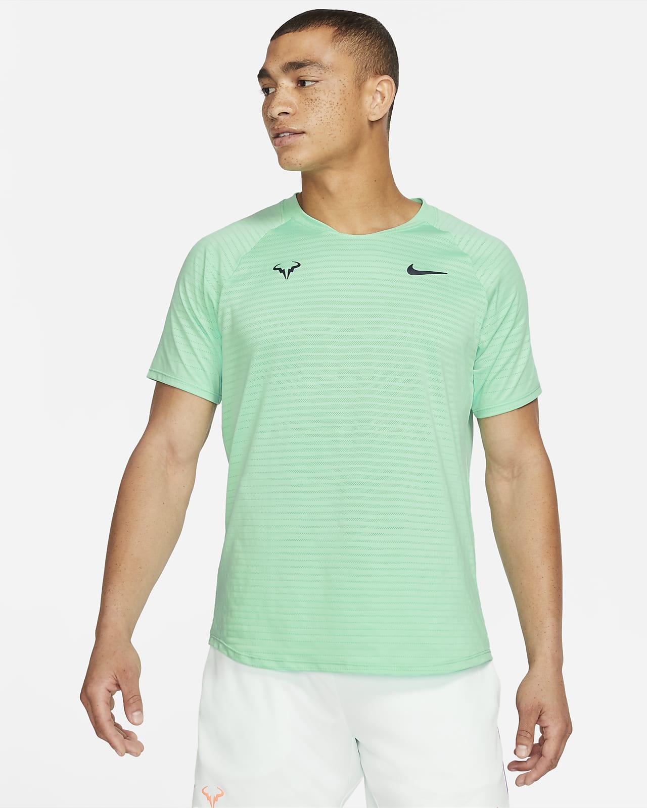 Camisola de ténis de manga curta NikeCourt AeroReact Rafa Slam para homem
