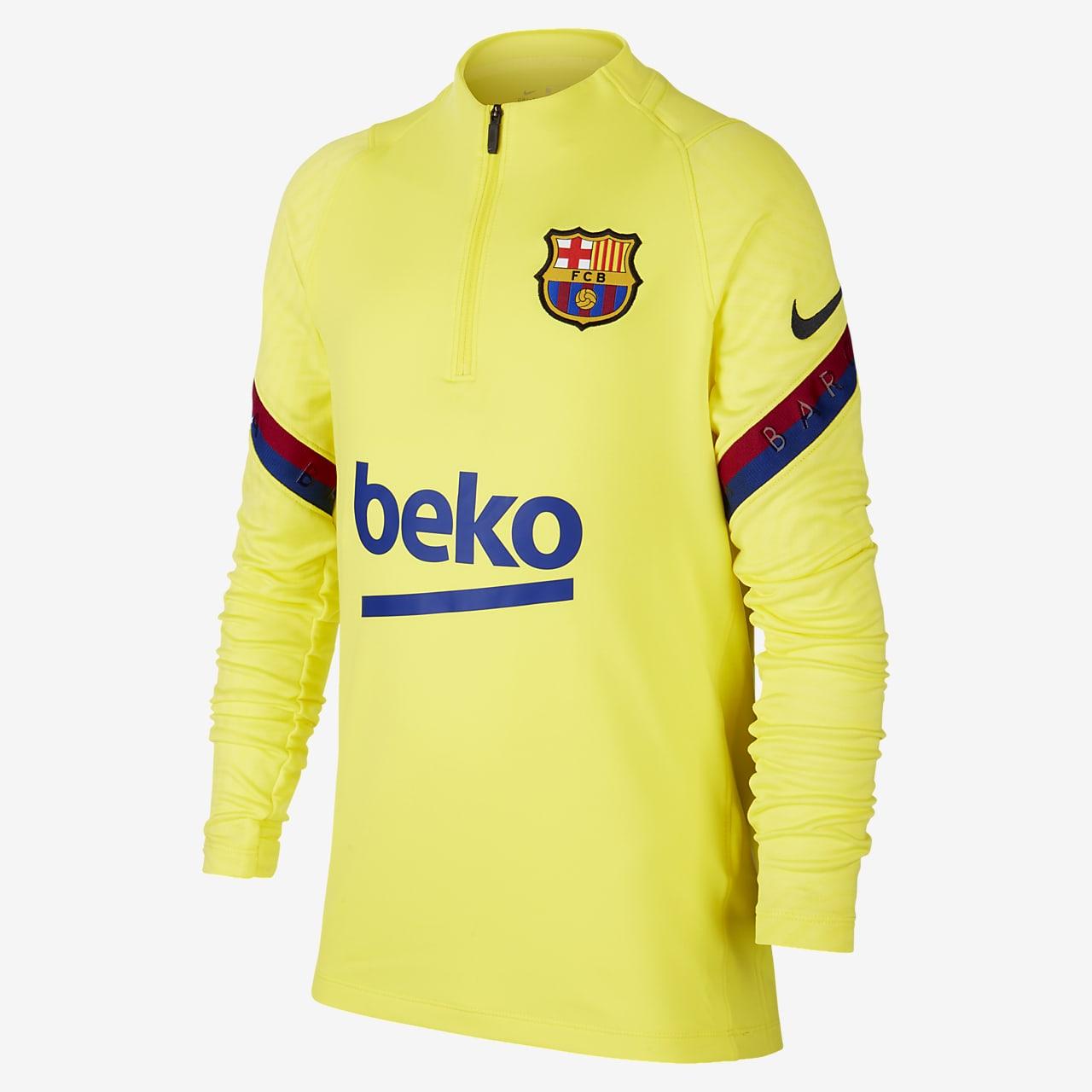 Fotbalové tréninkové tričko FC Barcelona Strike pro větší děti