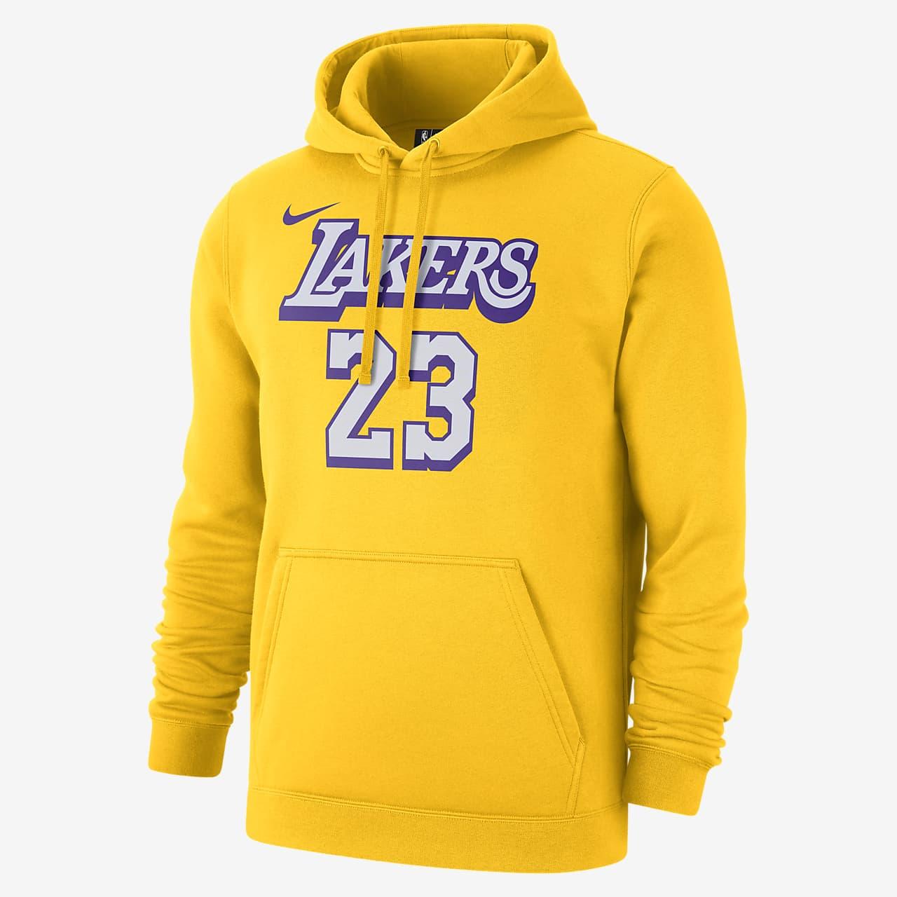 洛杉矶湖人队 (LeBron James) City Edition Nike NBA 男子连帽衫