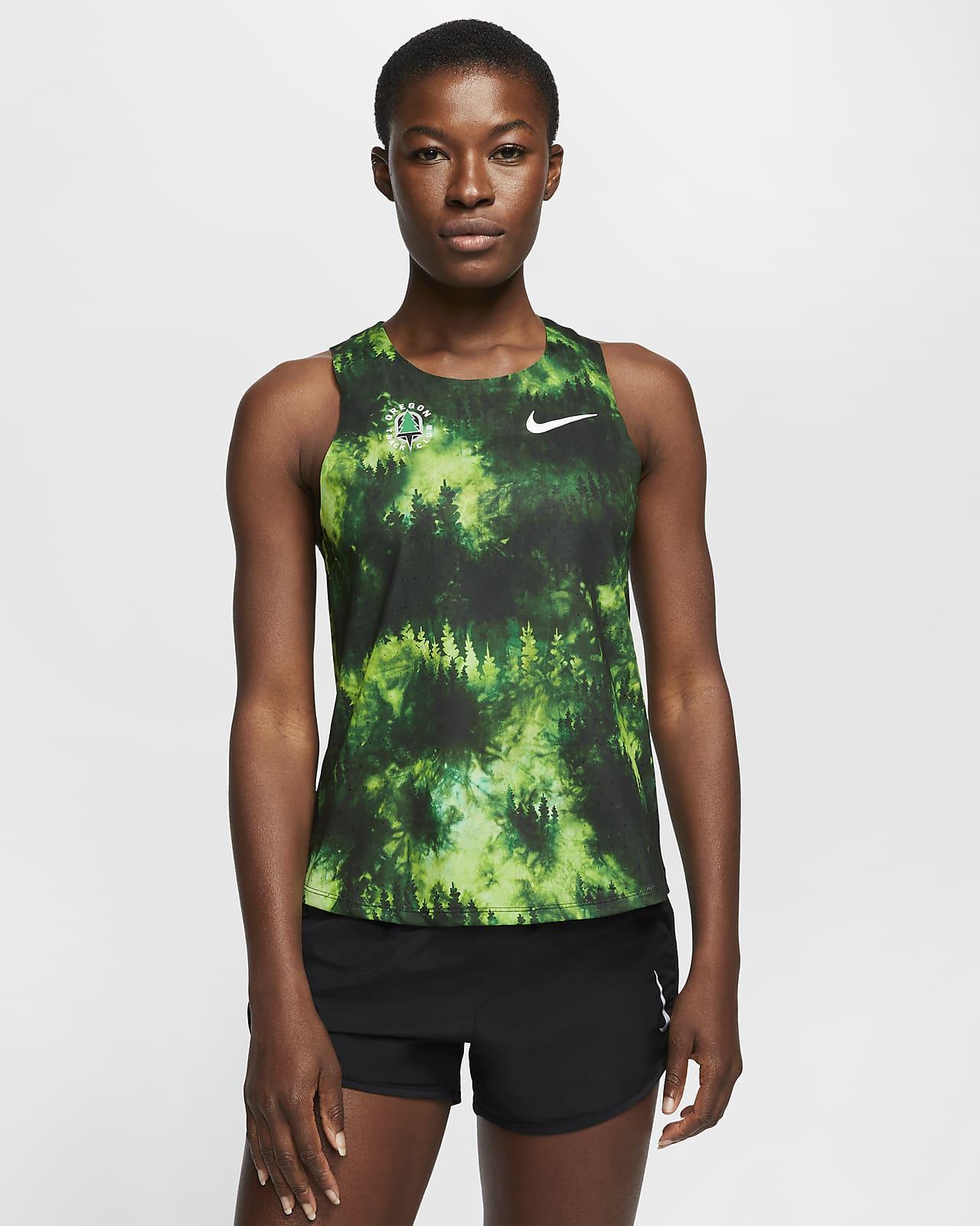 Camiseta sin mangas de running para mujer Nike AeroSwift Oregon Track Club
