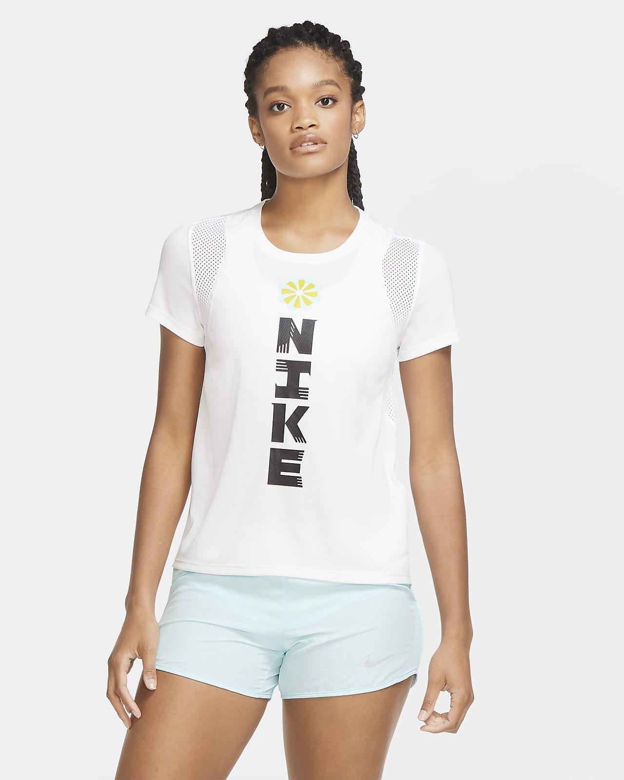เสื้อวิ่งผู้หญิง Nike Icon Clash
