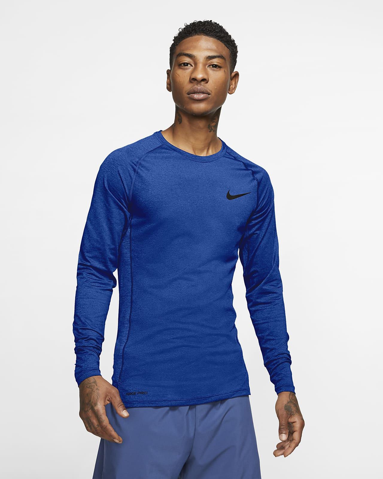 Nike Pro–langærmet overdel med tætsiddende pasform til mænd