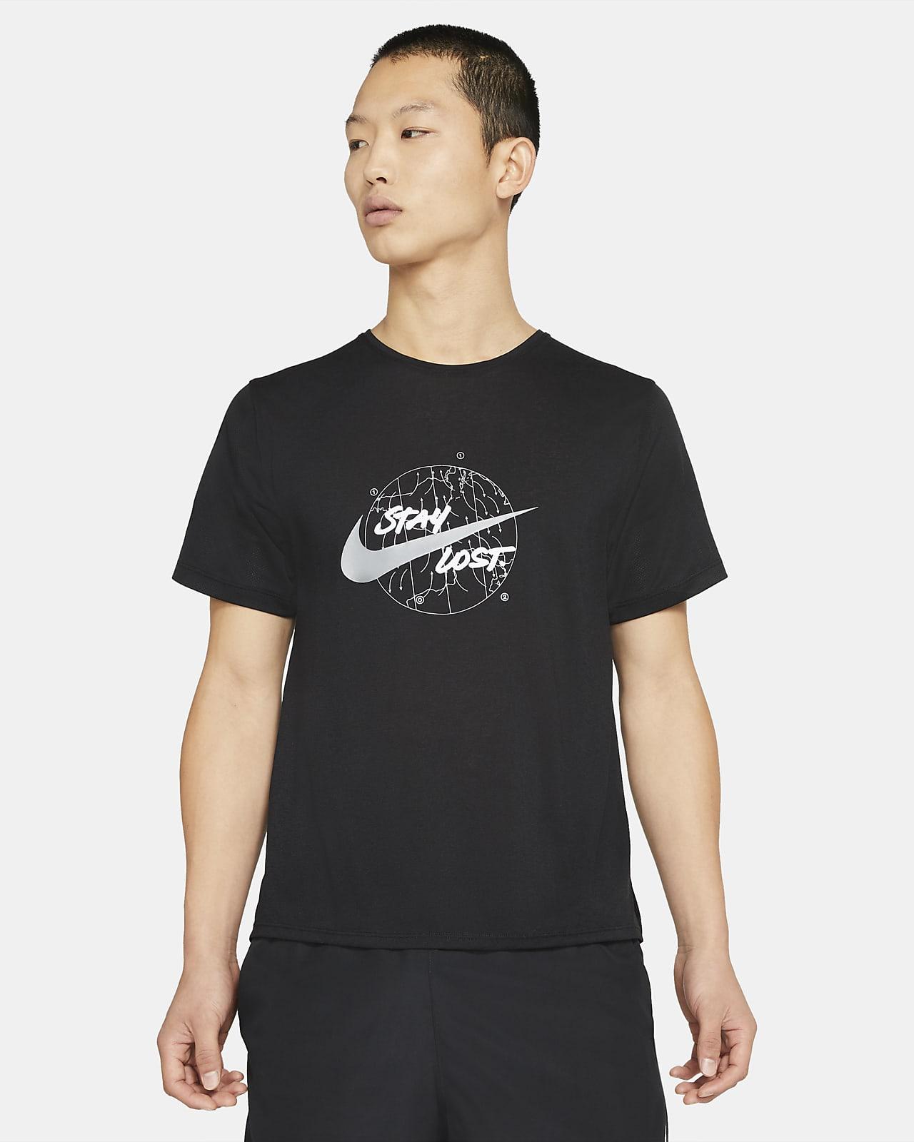 Nike Dri-FIT Miler Wild Run 男款短袖跑步上衣