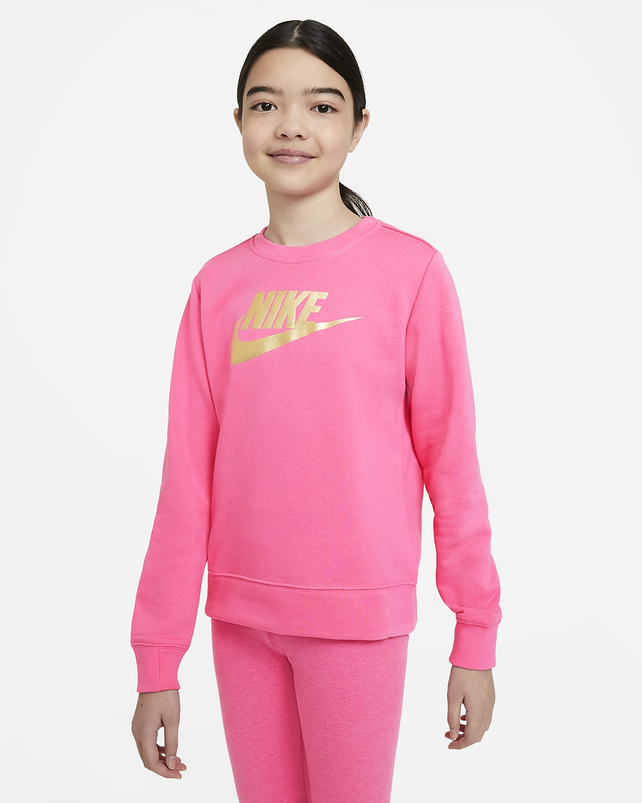 Nike Sportswear Older Kids' (Girls') French Terry Crew