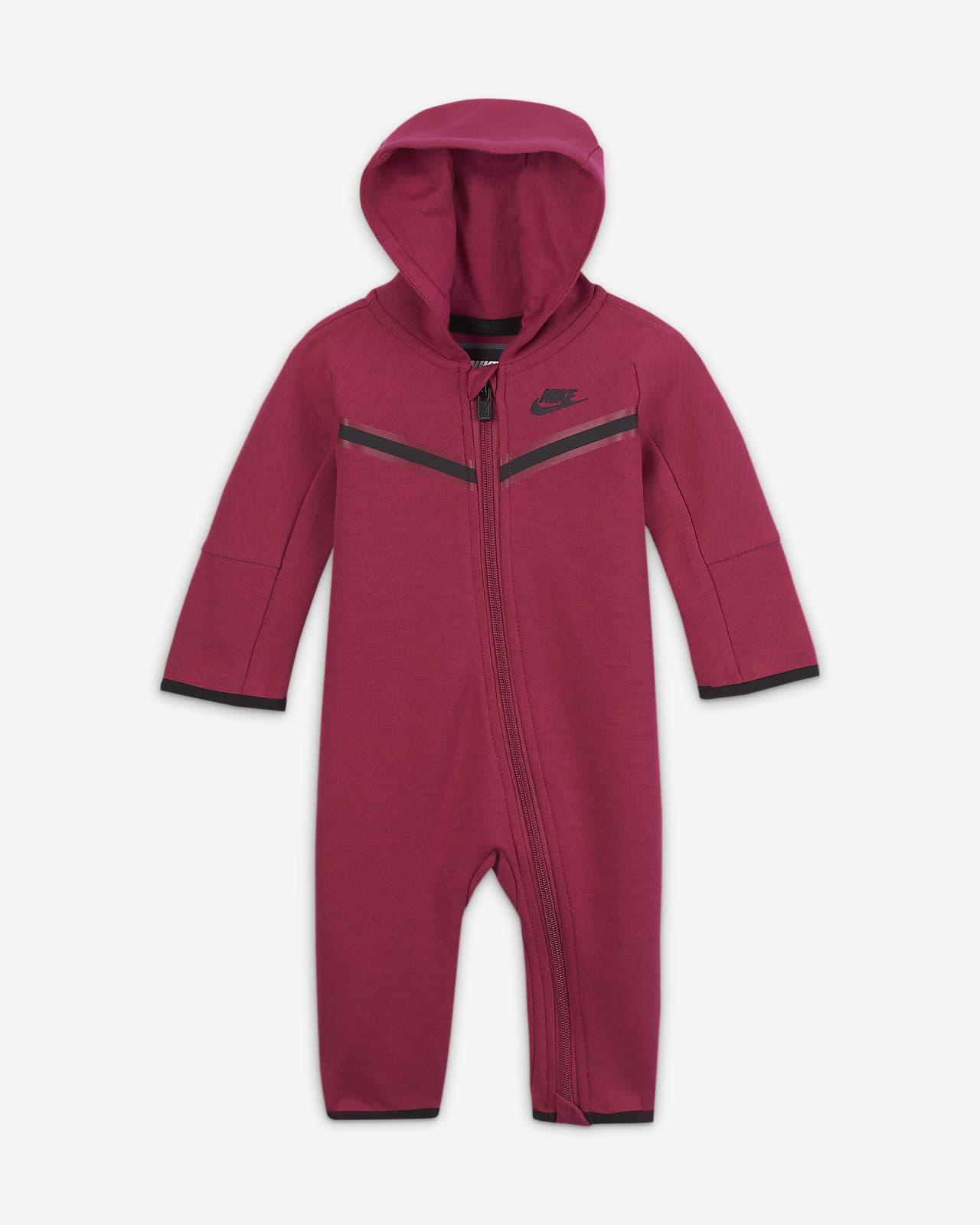 Mono para bebé de cierre completo Nike Sportswear Tech Fleece (0-9M)