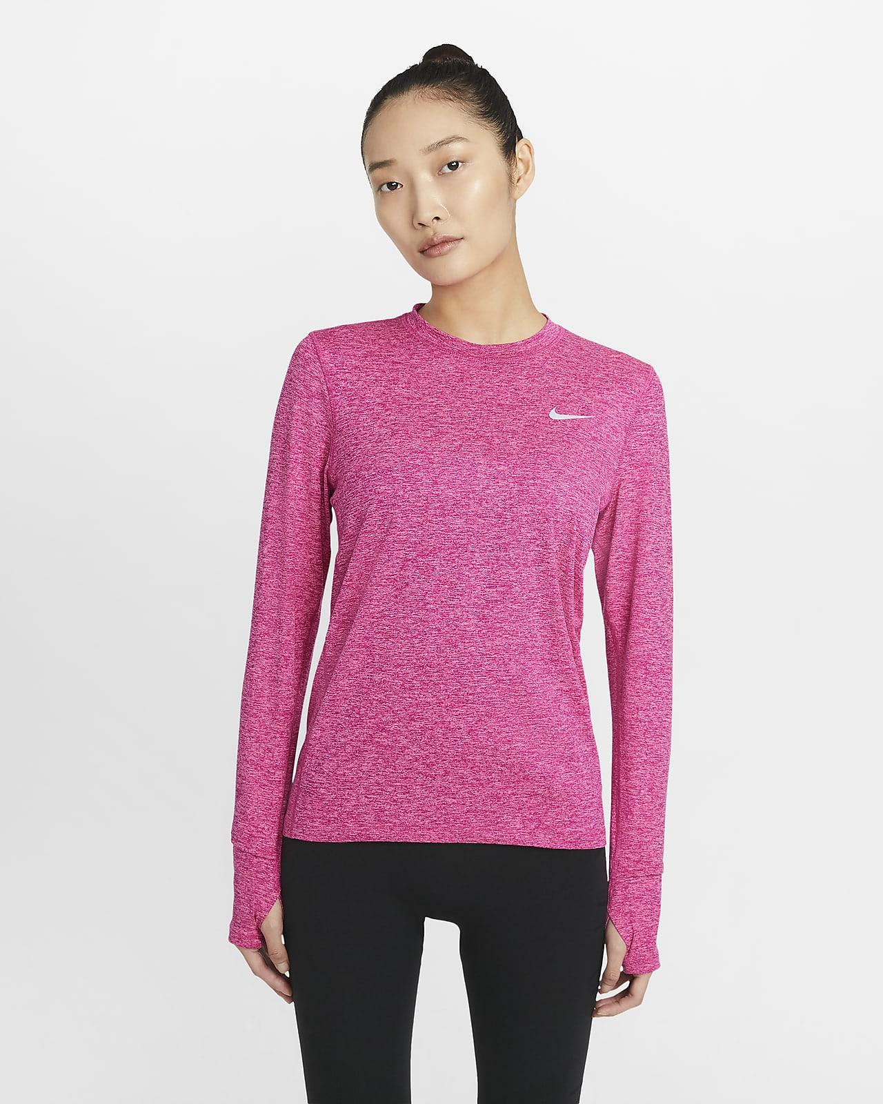 Camiseta de cuello redondo de running para mujer Nike Dri-FIT Element