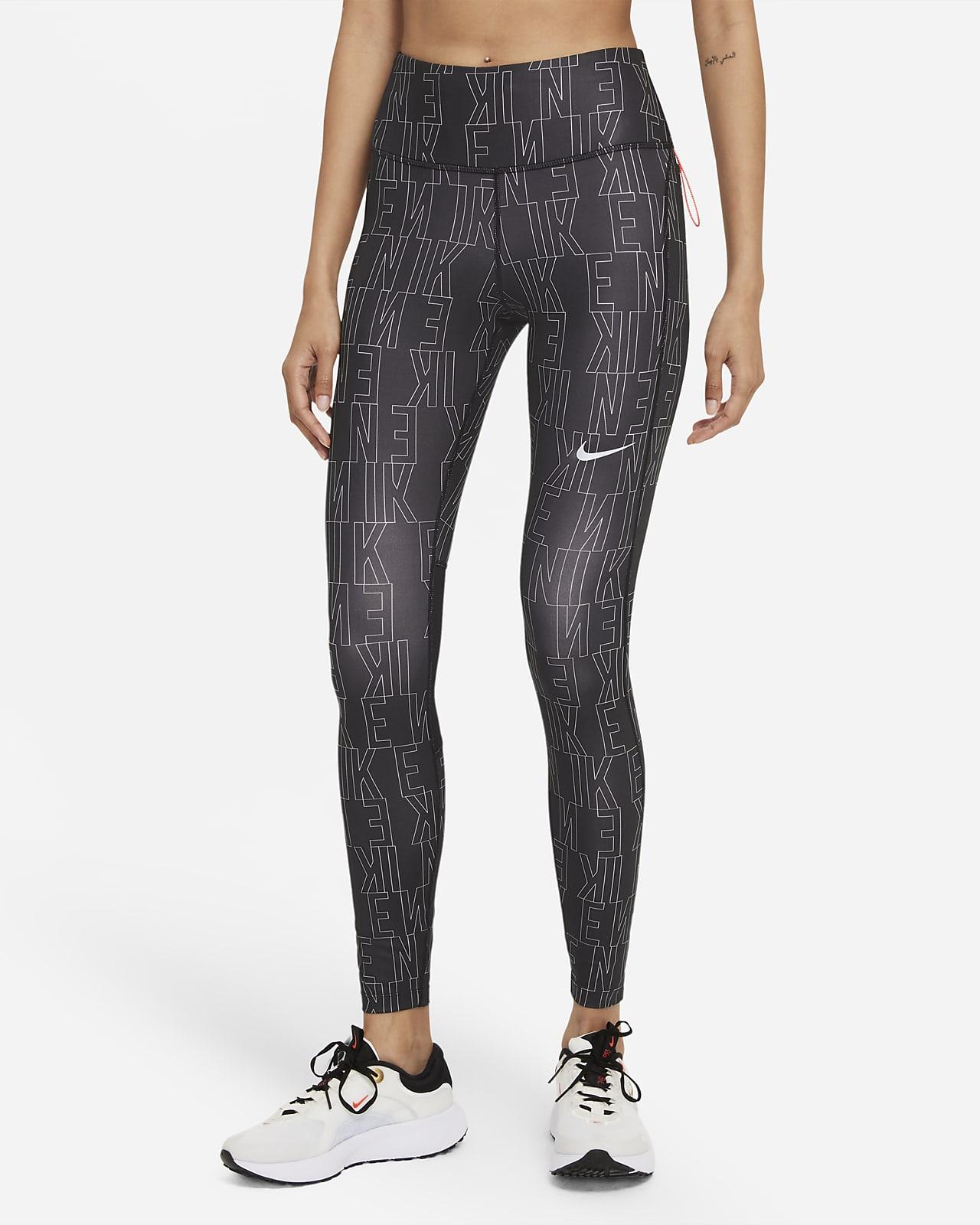 Dámské běžecké legíny Nike Dri-FIT Run Division Epic Fast se středně vysokým pasem