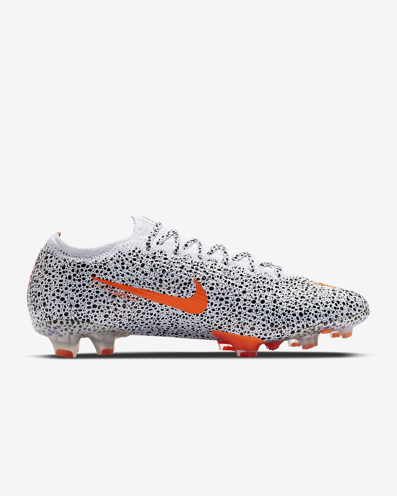 Chaussure de football à crampons Nike Mercurial Vapor 13 Elite CR7 Safari FG pour terrain sec