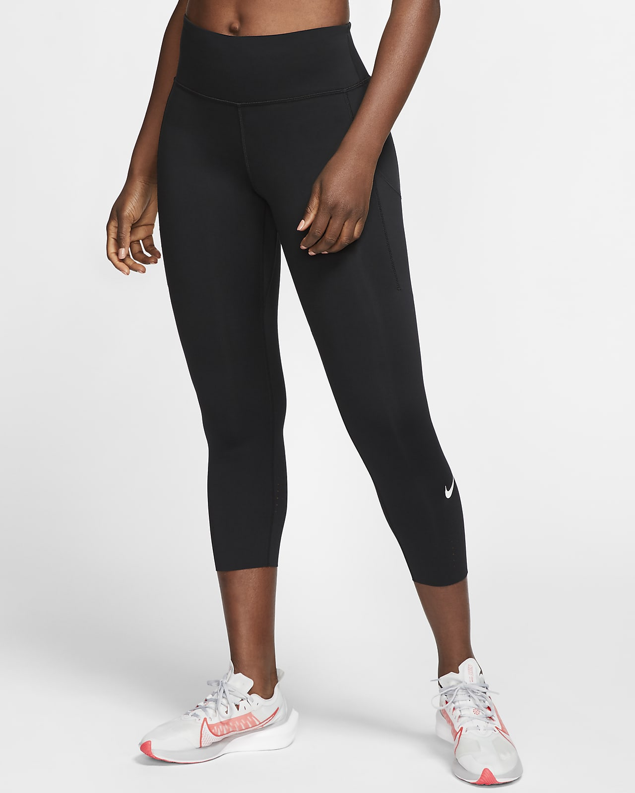 Dámské zkrácené běžecké legíny Nike Epic Luxe se středně vysokým pasem akapsou