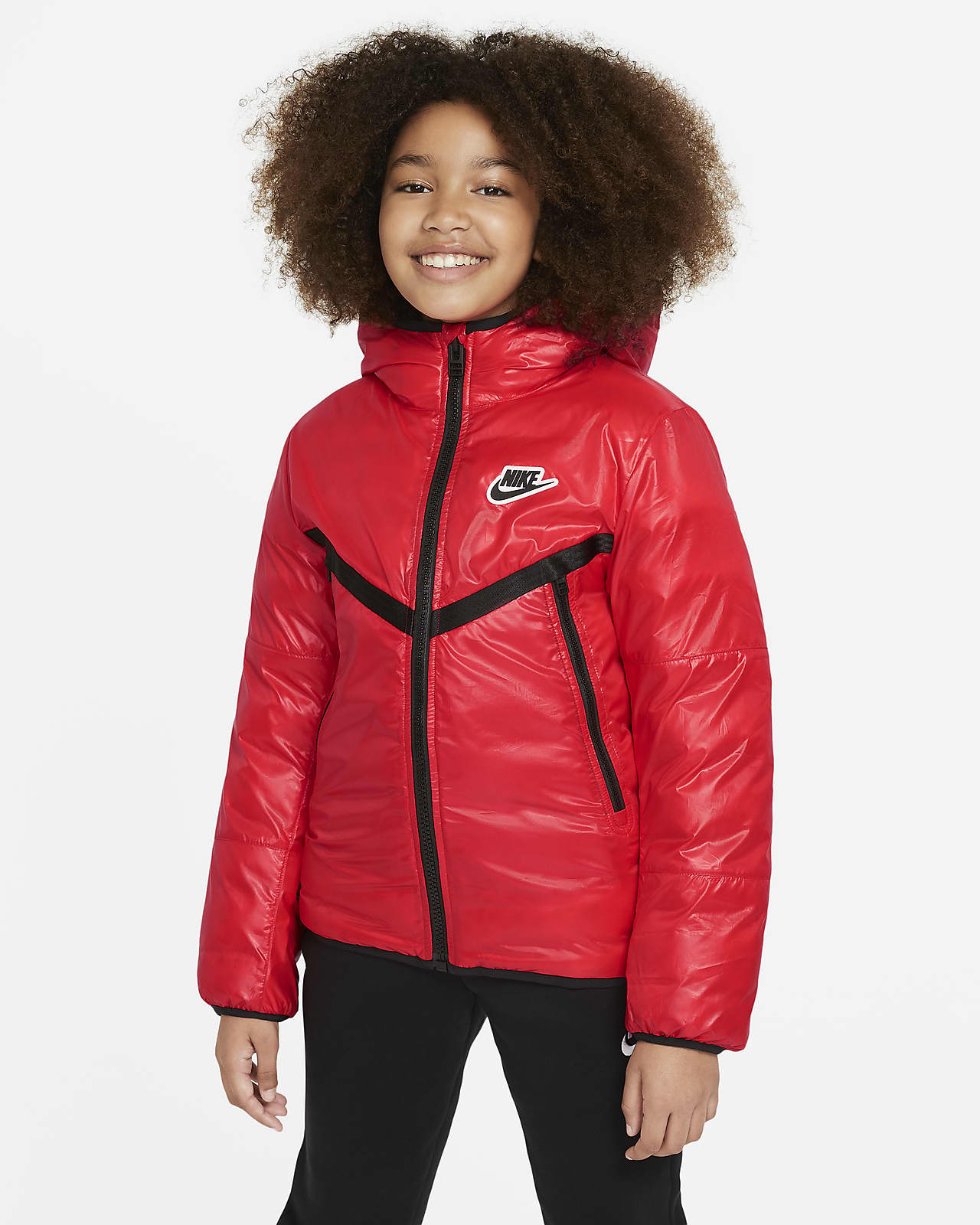 Nike Sportswear Older Kids' Synthetic-Fill Water-Repellent Jacket