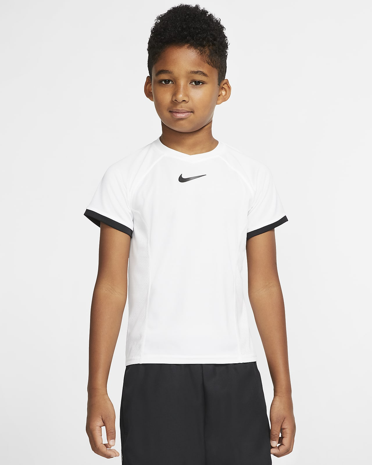 NikeCourt Dri-FIT Big Kids (Boys') Short-Sleeve Tennis Top
