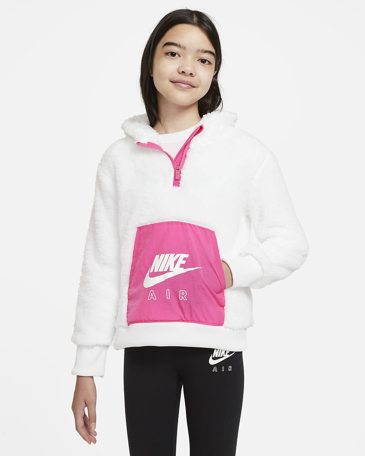 Sweat à capuche en sherpa Nike Air pour Fille plus âgée