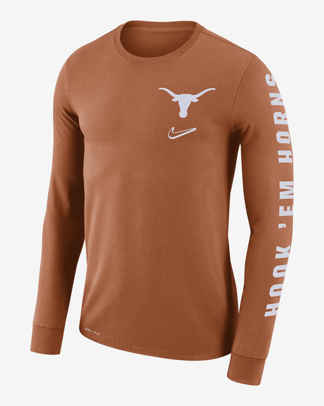 abdomen Intacto mordedura  Nike College Dri-FIT Mantra (Texas) Men's Long-Sleeve T-Shirt. Nike.com