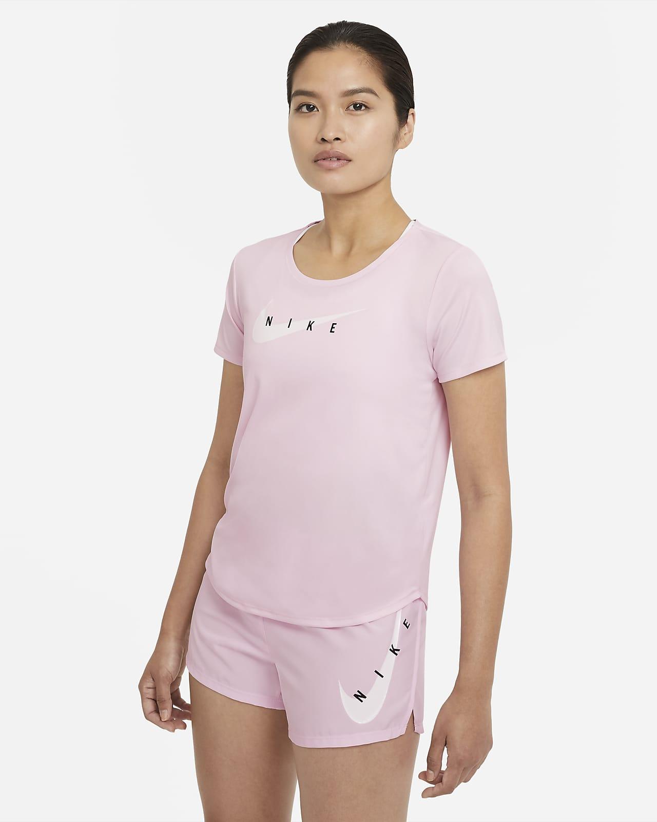 Nike Swoosh Run 女款短袖跑步上衣