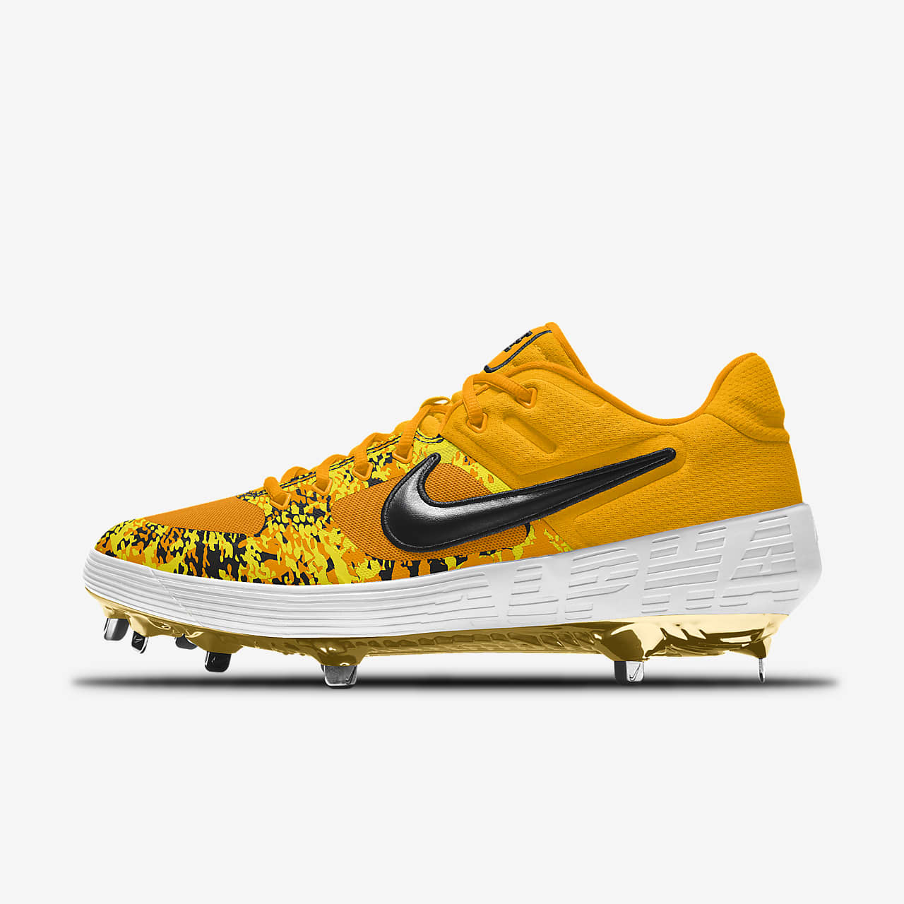 Nike Alpha Huarache Elite 2 Low Metal Premium By You Custom Baseball Boot