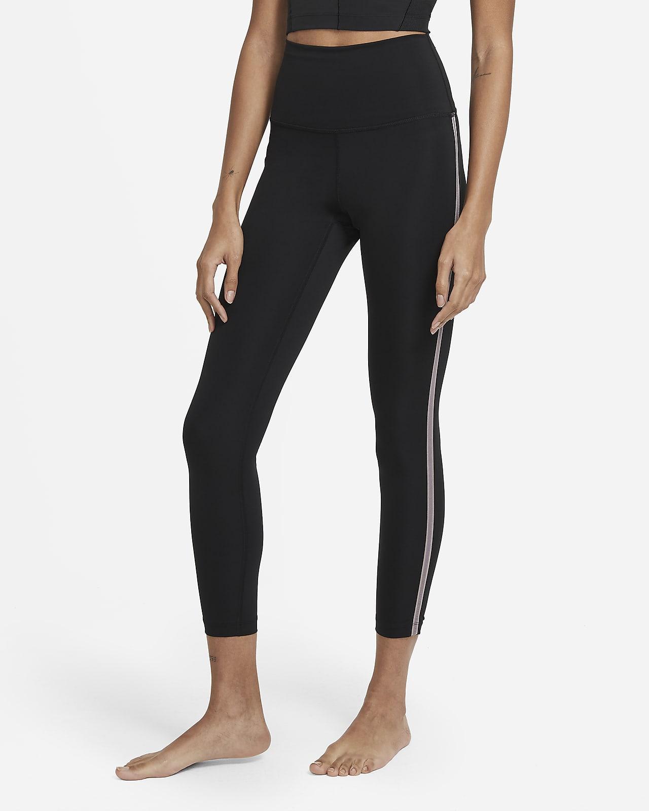 Nye Nike Yoga-7/8-leggings med høj talje til kvinder