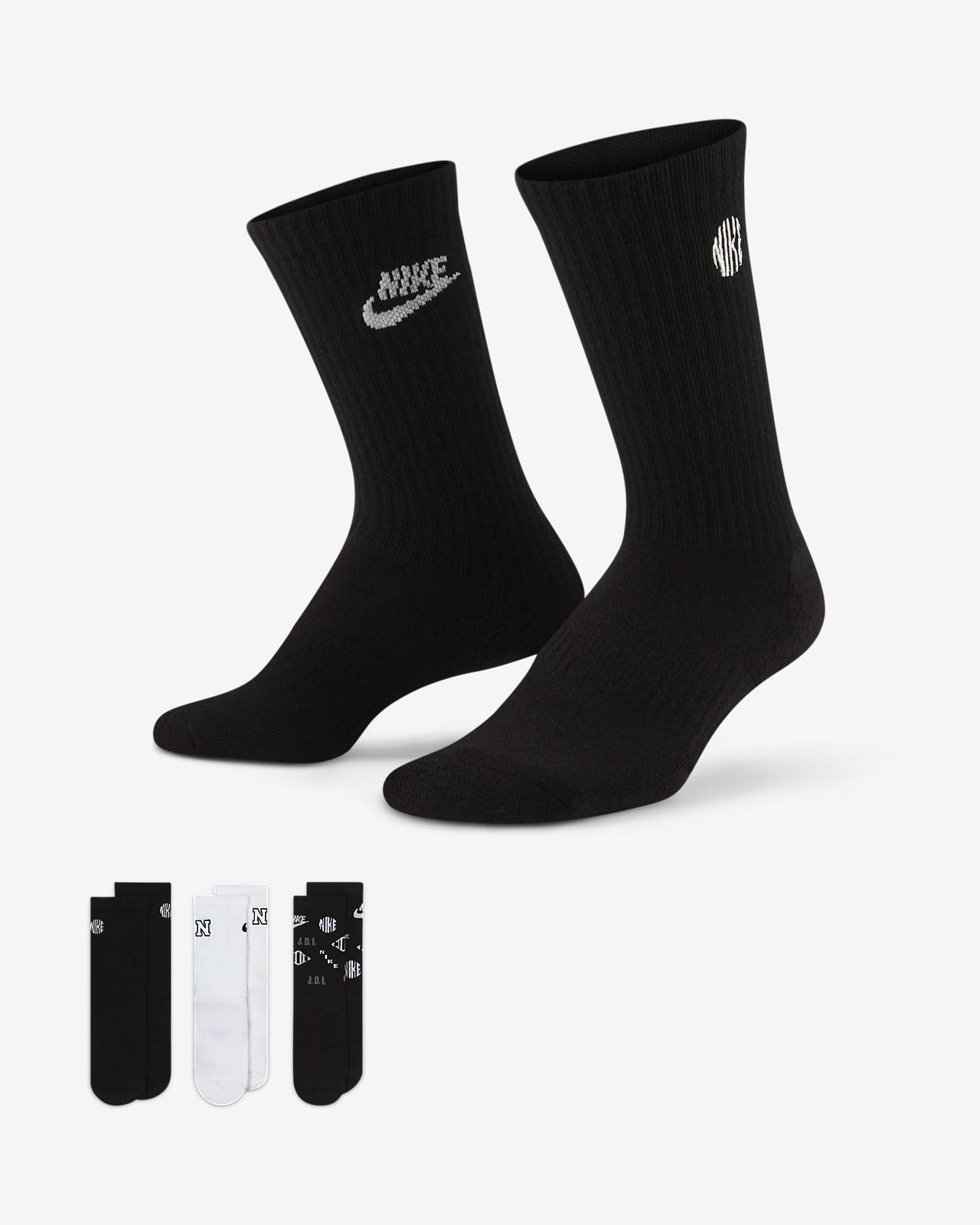 Calze ammortizzate di media lunghezza Nike Everyday - Bambini (3 paia)